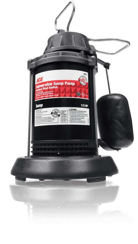 Ace 1/3 hp 3300 gph Plastic Submersible Sump Pump - Ace Hardware