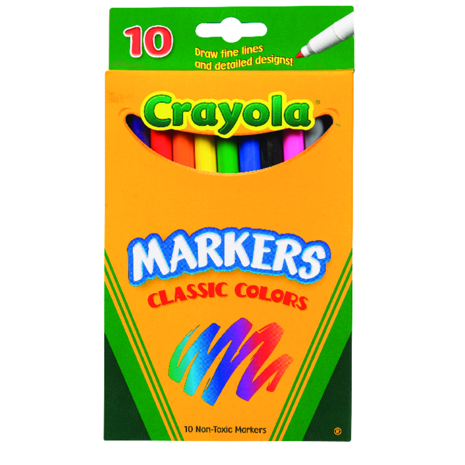 Crayola  Classic  Assorted  Fine Tip  Markers  10 pk