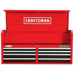 Craftsman 52 in. 8 drawer Steel Top Tool Chest 24.5 in. H x 16 in. D Black/Red
