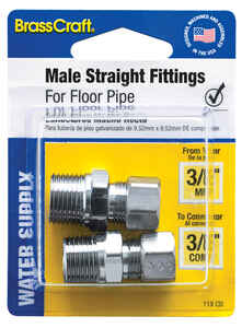 BrassCraft  Plumb Shop  Brass  Male Straight Fitting