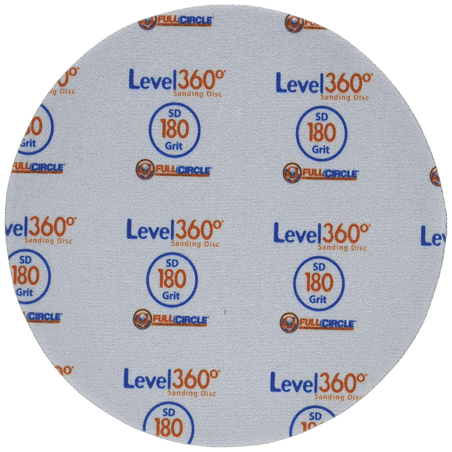 Full Circle Level 360 8.75 in. Aluminum Oxide Hook and Loop Sanding Disc 180 Grit Very Fine 5