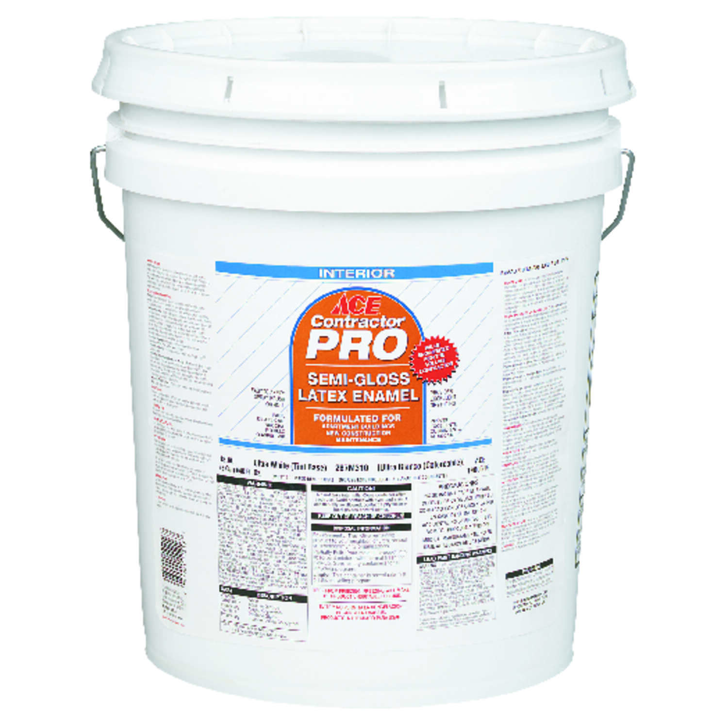 Ace  Contractor Pro  Semi-Gloss  Off White  Latex  Paint  Indoor  5 gal.