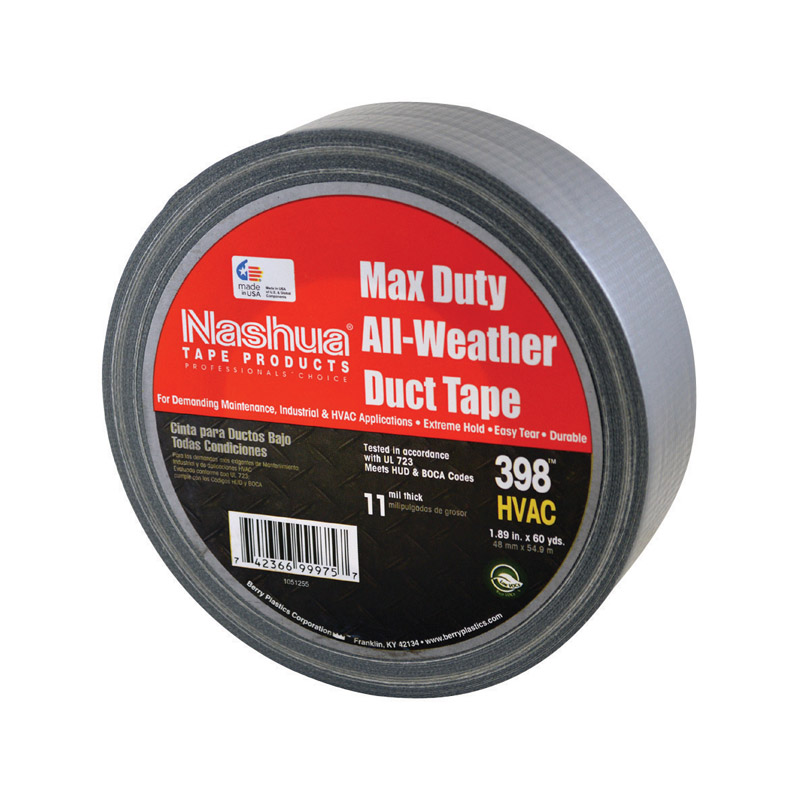 Nashua  60 yd. L x 1.89 in. W Duct Tape  Silver