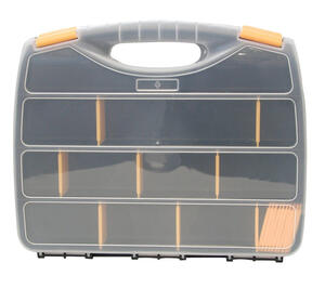 Quantum Storage  3 in. L x 9-1/2 in. W x 12.25 in. H Storage Organizer  Plastic  22 compartment Gray