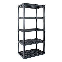 Gracious Living  Knect-A-Shelf  74 in. H x 36 in. W x 24 in. D Resin  Shelving Unit