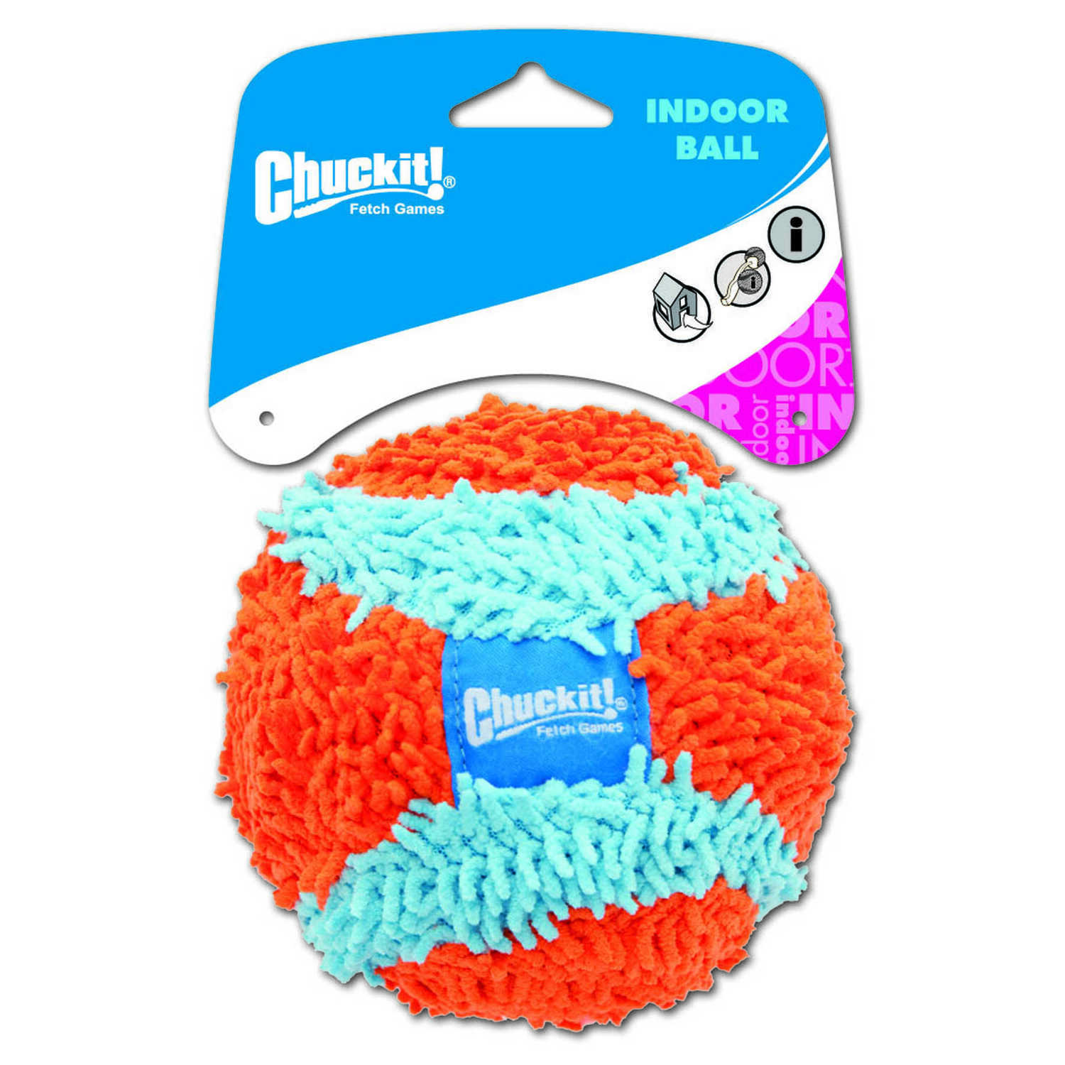 Chuckit!  Multicolored  Fabric  Indoor Ball  Ball