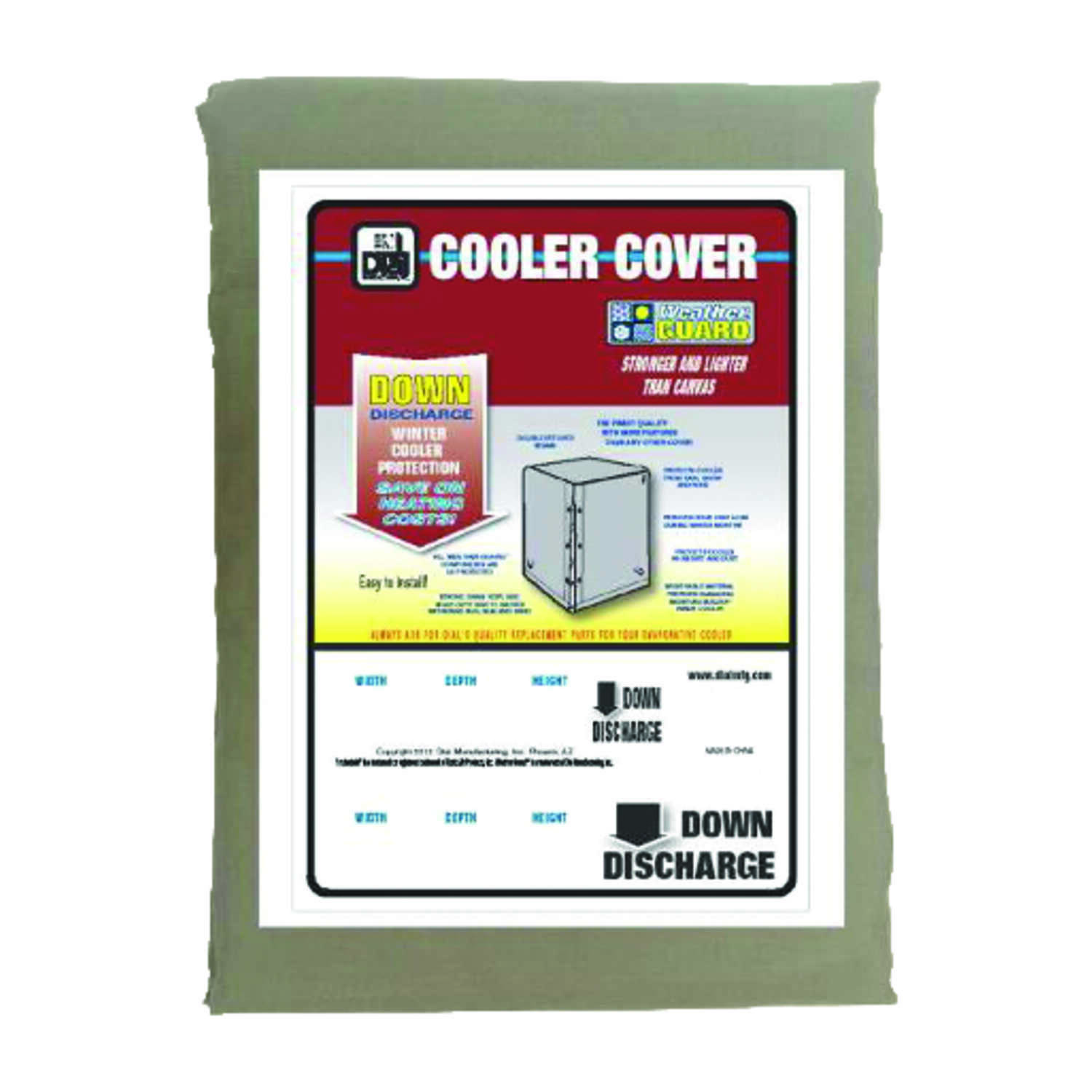 Dial  29 in. H x 41 in. W Polyester  Gray  Evaporative Cooler Cover