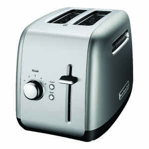 KitchenAid  Metal  Silver  2 slot Toaster