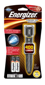 Energizer  400 lumens Gray  LED  Flashlight  AA Battery