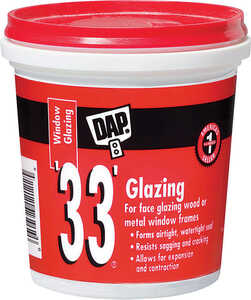 Dap  White  Glazing Compound  0.5 pt.
