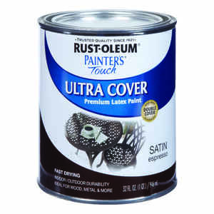 Rust-Oleum  Painters Touch Ultra Cover  Indoor and Outdoor  Satin  Espresso  Protective Enamel  1 qt