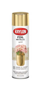 Krylon  Foil  High Gloss  Gold  Metallic Spray Paint  8 oz.