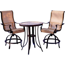 Hanover  3 pc. Polished Bronze  Bistro Set