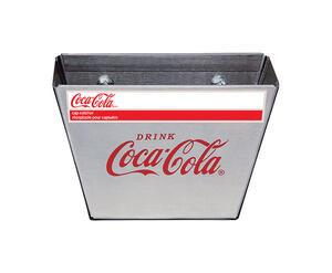 TableCraft  Coca-Cola  2-1/2 in. W x 3-1/2 in. L Silver  Bottle Cap Catcher
