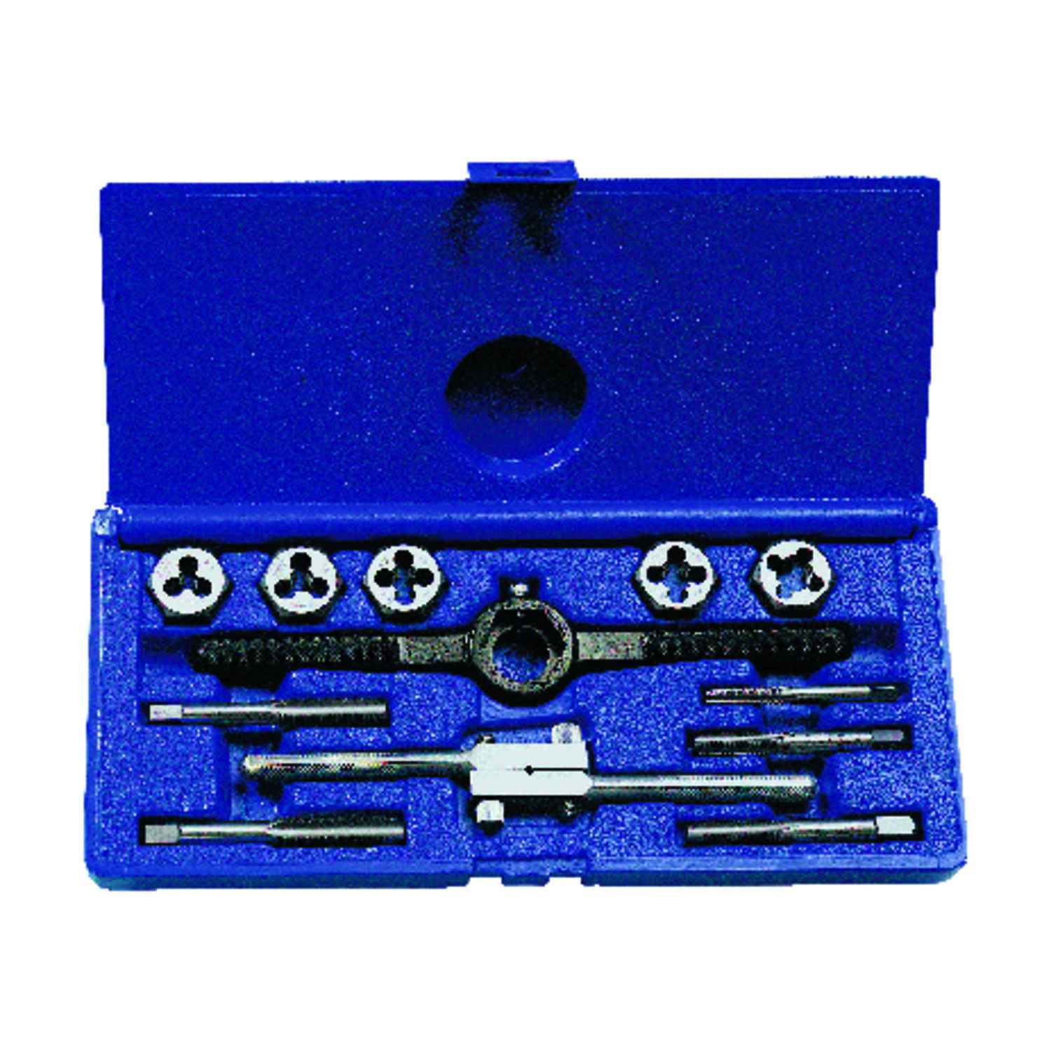 Irwin  Hanson  High Carbon Steel  SAE  Tap and Die Set  NC  1/4-20NC, 5/16-18NC, 38-16NC, 7/16-14NC,