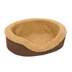 Aspen Pet Assorted Faux Micro Suede Pet Bed 5 in. H x 14 in. W x 17 in. L
