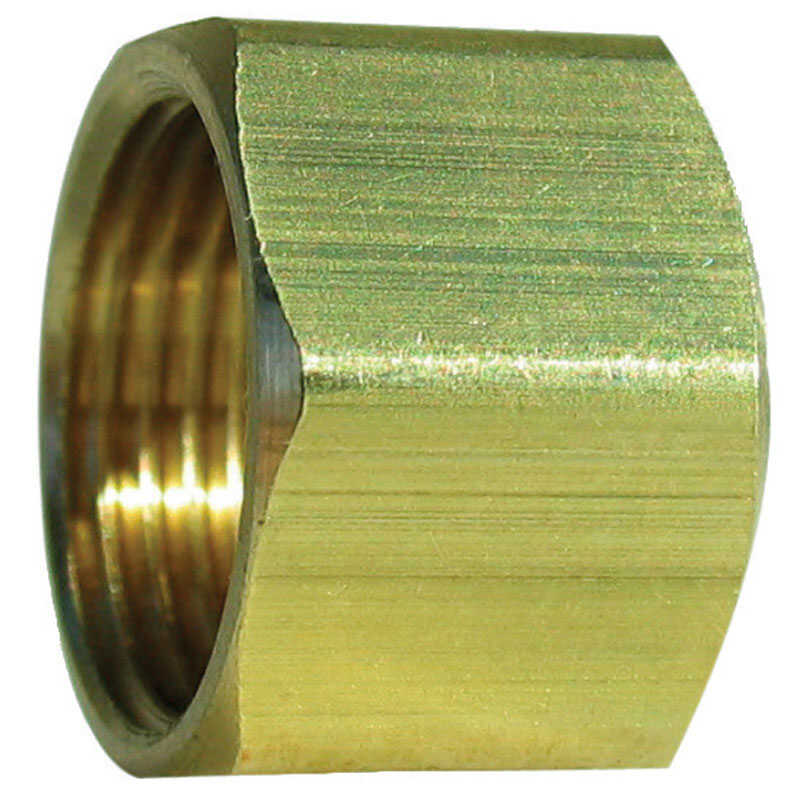 JMF  5/16 in. Dia. x 5/16 in. Dia. x Compression   5/16 in. Compression Nut  Brass