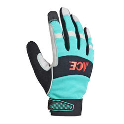 Ace  Women's  Indoor/Outdoor  Synthetic Leather  Work Gloves  Black/Green  M  1