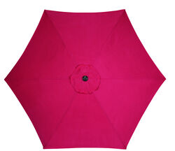 Living Accents  9  Tiltable Red  Market  Umbrella
