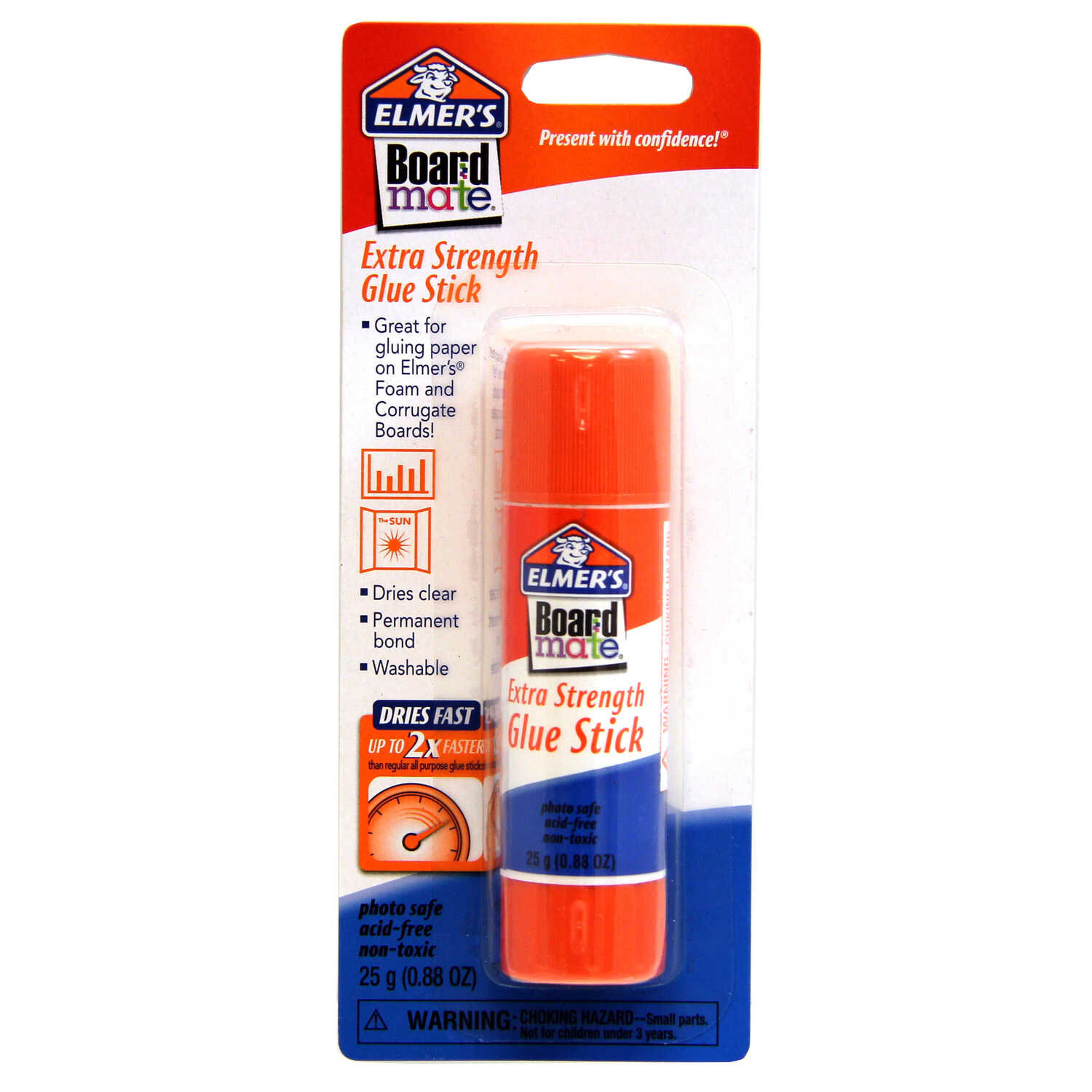 Elmer's  BoardMate Extra Strength  Medium Strength  Polyvinyl acetate homopolymer  Glue Stick  25