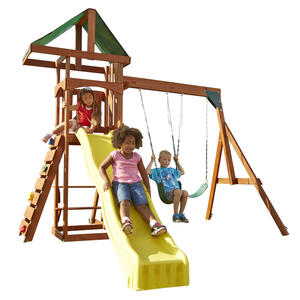 Swing-N-Slide  Scrambler  Wood  Swing Set