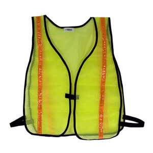 CH Hanson  Reflective Polyester Mesh  Safety Vest  Fluorescent Green  One Size Fits All  1 pk