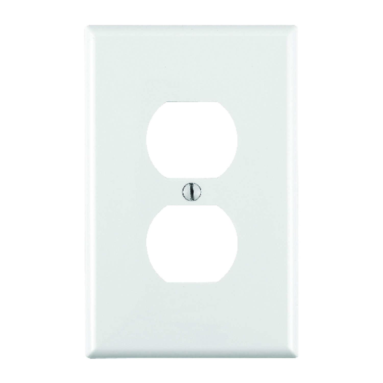 Leviton White 1 Gang Nylon Duplex Outlet Wall Plate 1 Pk Ace Hardware