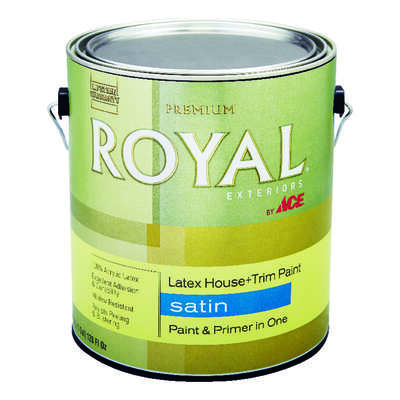 Ace  Royal  Satin  Tintable Base  Acrylic Latex  House & Trim Paint & Primer  1 gal.