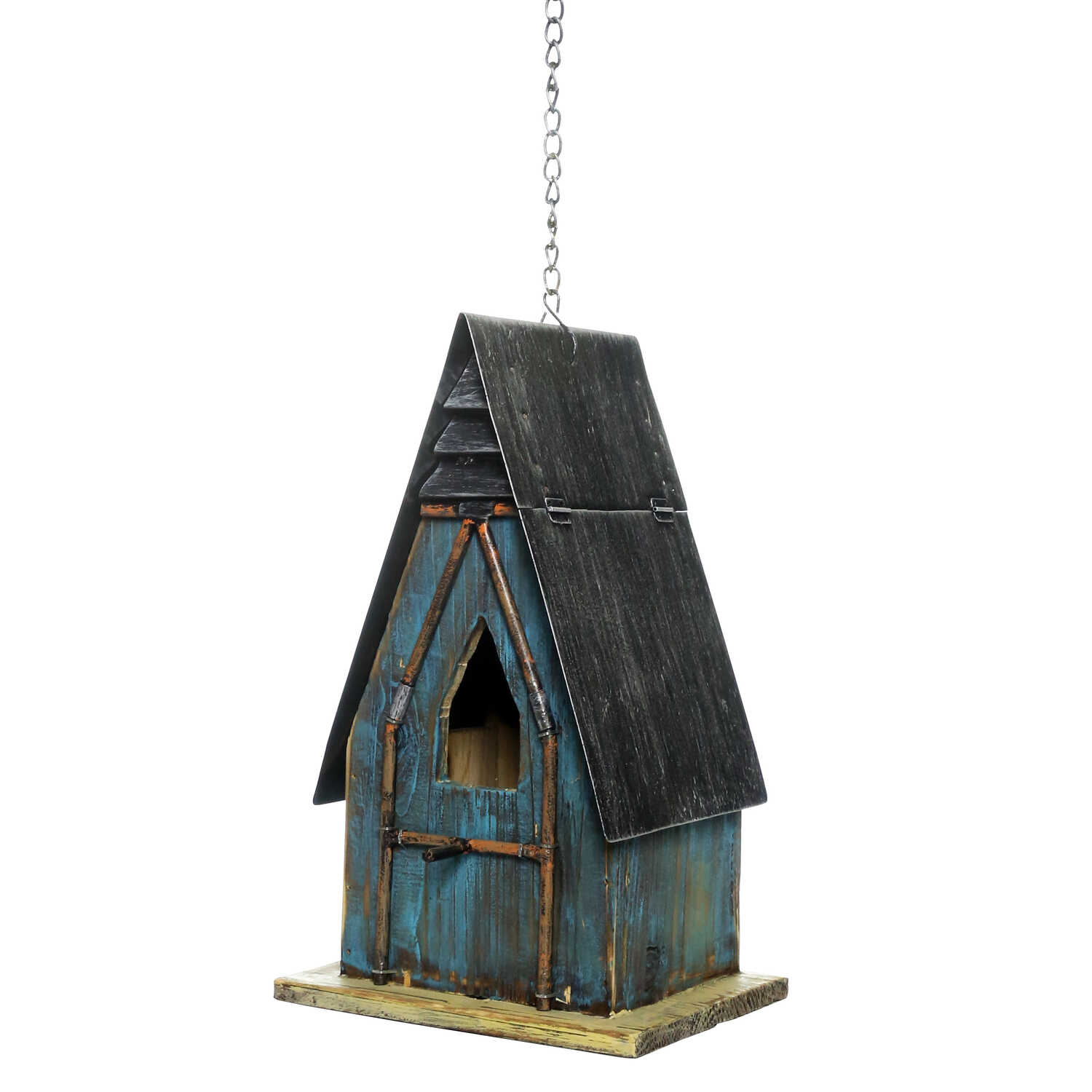 Alpine  12 in. H x 6 in. W x 6 in. L Wood  Bird House