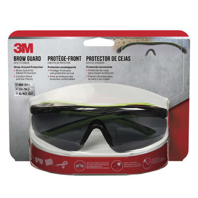 3M Anti-Fog Safety Glasses Gray Lens Black Frame 1 pc.