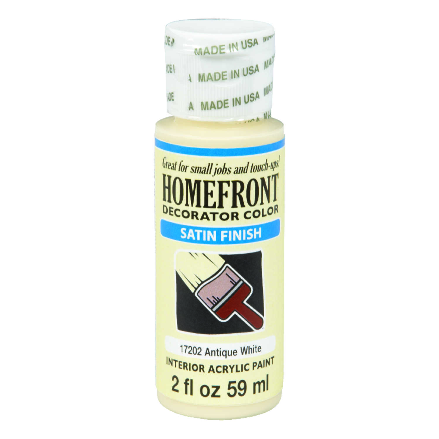 Homefront  Satin  Antique White  Hobby Paint  2 oz.