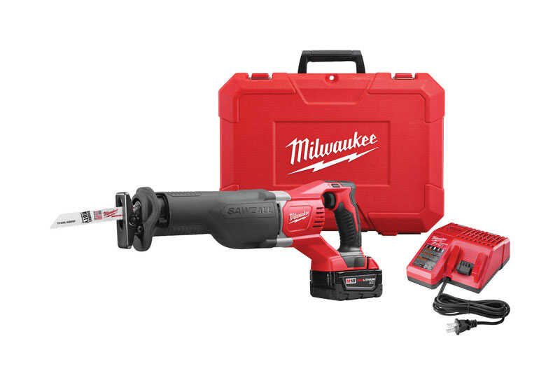 Milwaukee  M18 SAWZALL  1-1/8 in. Cordless  Reciprocating Saw  Kit 18 volt 3000 spm