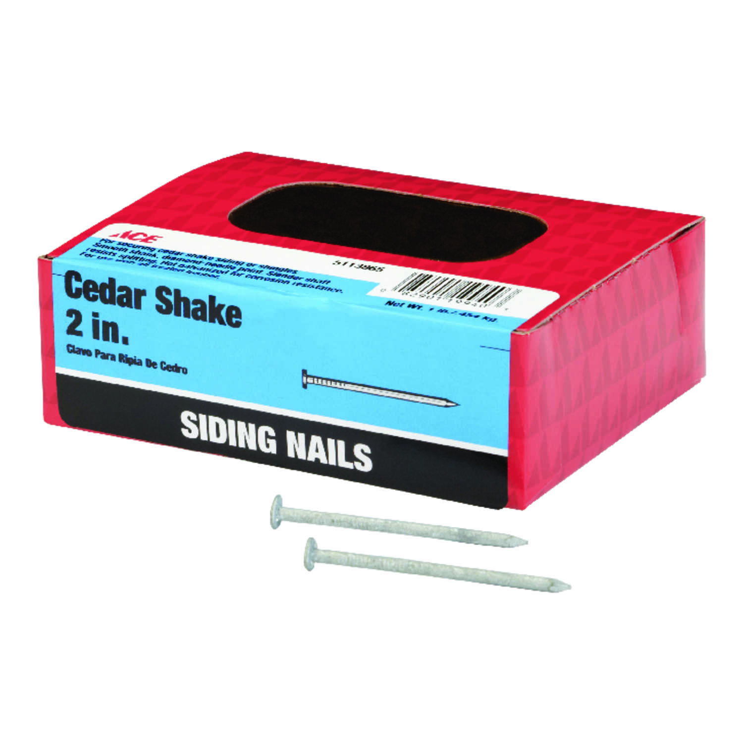 Ace  2 in. L Siding  Nail  Flat Head Smooth Shank  1 lb.