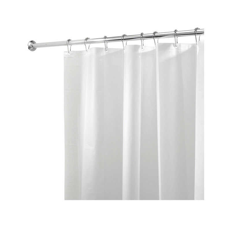 InterDesign  72 in. H x 72 in. W White  Solid  Shower Curtain Liner  PEVA