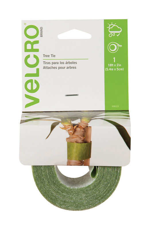 Velcro  216 in. H x 2 in. W Green  Tree Tie