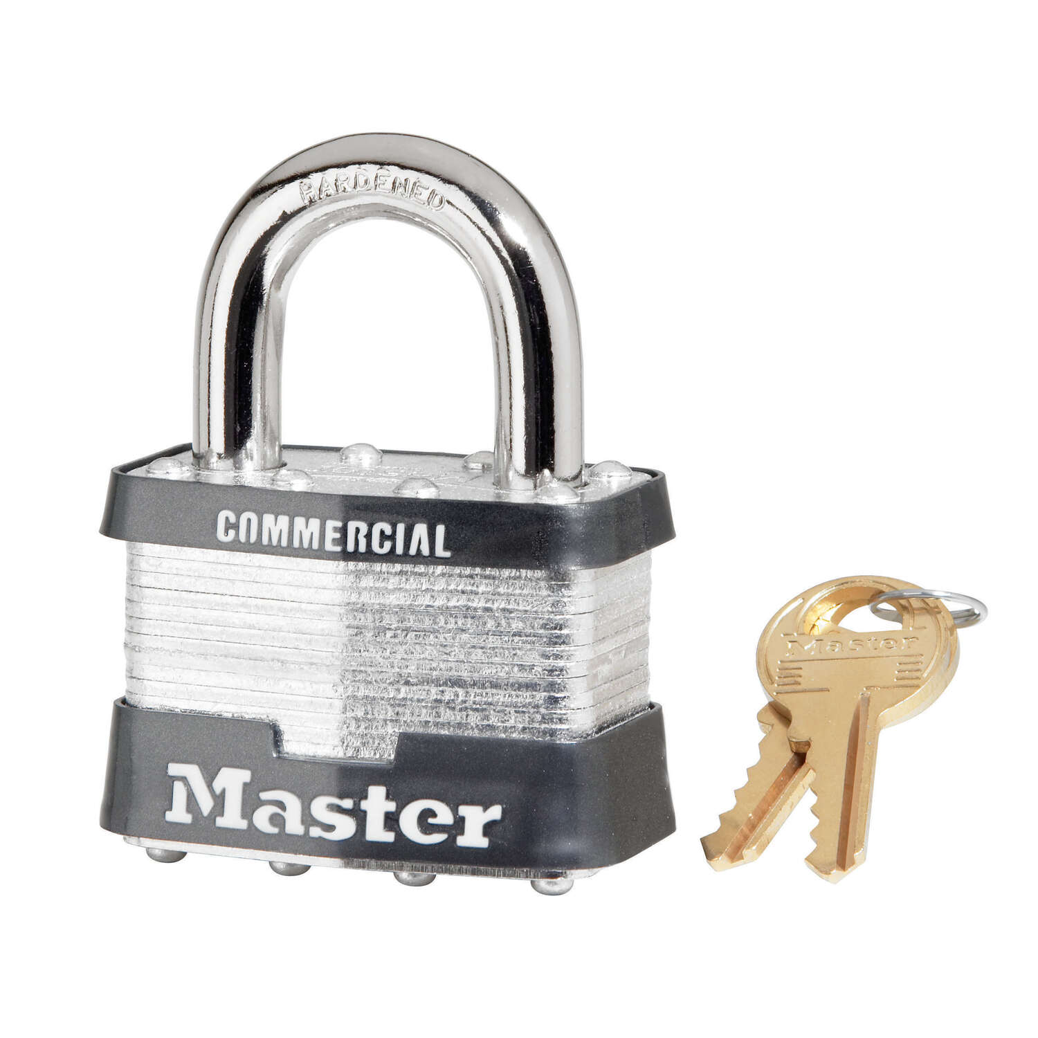 Master Lock  2 in. W Steel  Pin Tumbler  Padlock  1 pk Keyed Alike