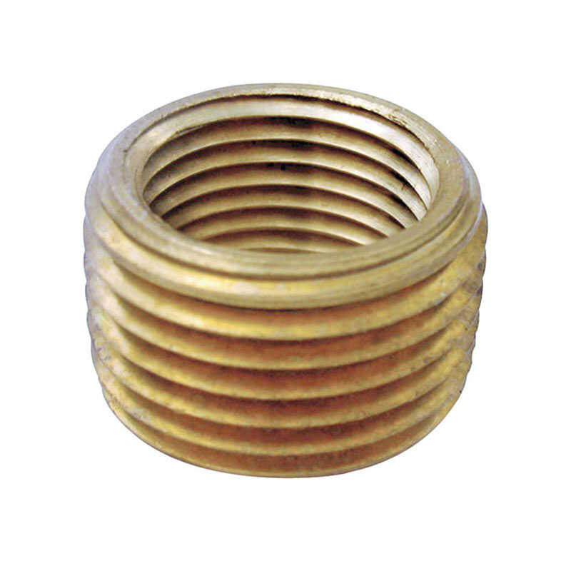 JMF  3/4 in. Dia. x 1/2 in. Dia. MPT To FPT  Yellow Brass  Pipe Face Bushing