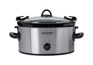 Crock Pot  Cook and Carry  6 qt. Silver  Stainless Steel  Slow Cooker