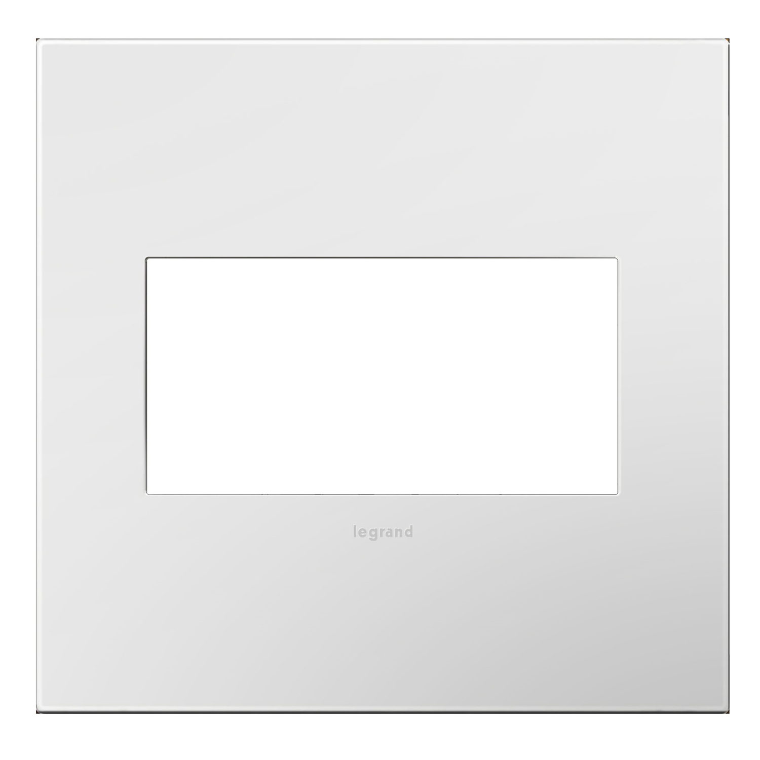 Legrand  Adorne  White  2 gang Thermoplastic  GFCI/Rocker  Wall Plate  1 pk