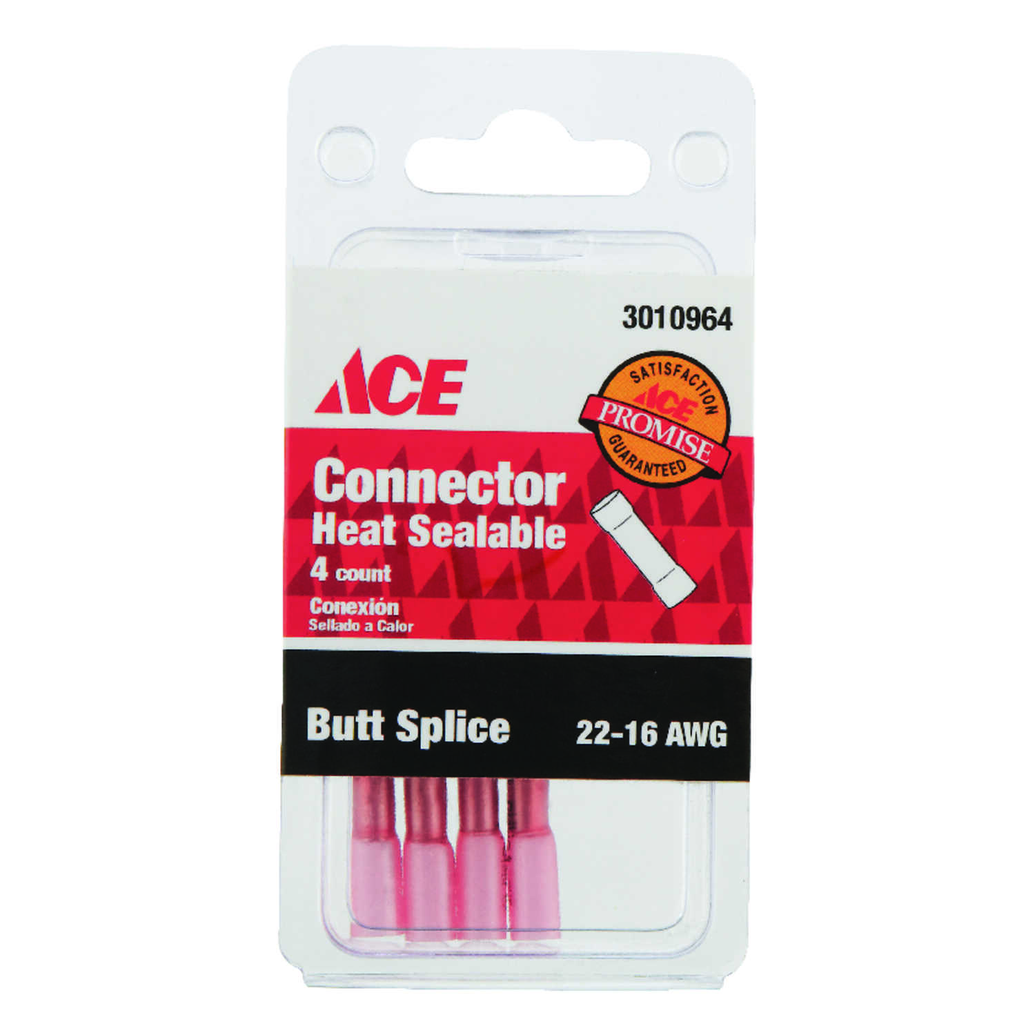 Ace  Butt Connector  Red  4 pk