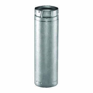 DuraVent  3 in. Dia. x 12 in. L Galvanized Steel  Double Wall Stove Pipe
