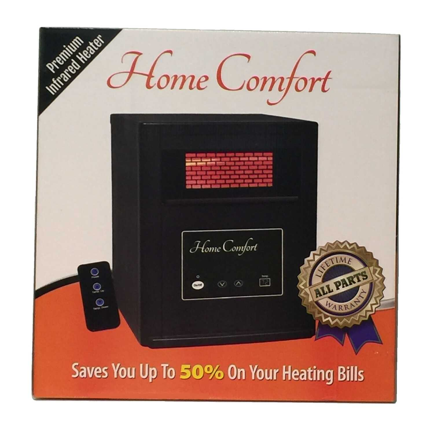 Home Comfort  1500  1500 sq. ft. Electric  Infrared  Portable Heater with Remote  5200 BTU