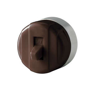 Cooper Wiring  Switch  Toggle  1  Brown  10 amps