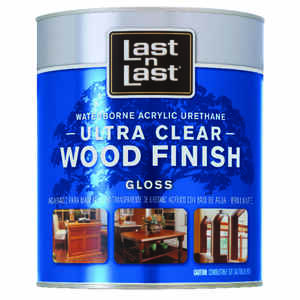 Last N Last  Waterborne Wood Finish  Gloss  Clear  Polycrylic  1 qt.