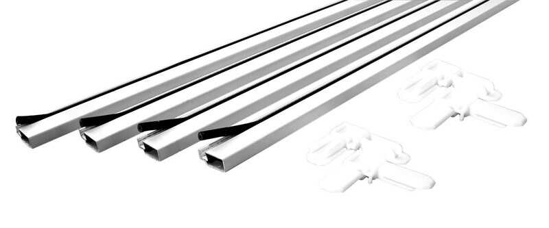 Prime-Line  White  Aluminum  3/4 in. L x 3/4 in. W 9 pc. Screen Frame Kit