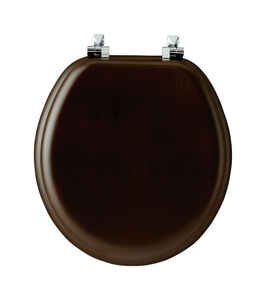 Mayfair  Round  Walnut  Wood  Toilet Seat