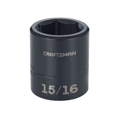 Craftsman  15/16 mm  x 1/2 in. drive  SAE  6 Point Shallow  Shallow Socket  1 pc.