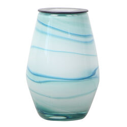 OutDoozie Glass Blue 7.5 in. H Art Aquamarine Outdoor Decoration