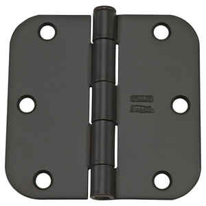 National Hardware  3-1/2 in. L Oil Rubbed Bronze  Door Hinge  12 pk