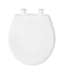 Mayfair  Round  White  Plastic  Toilet Seat